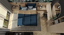 Sypialnia w domu w Lubinie