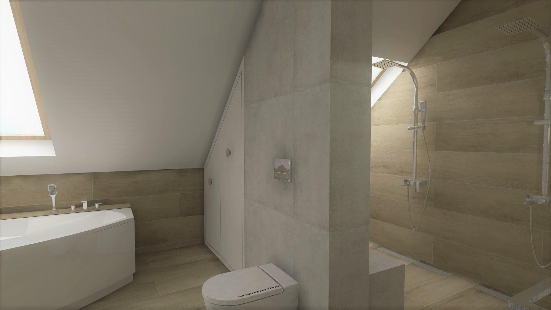 Łazienka z podwójną strefą prysznico