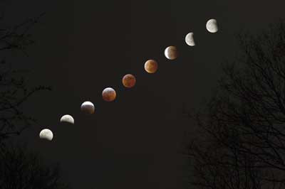 Lunar eclipse viewed from the earth but what would it look like from the surface of the moon?