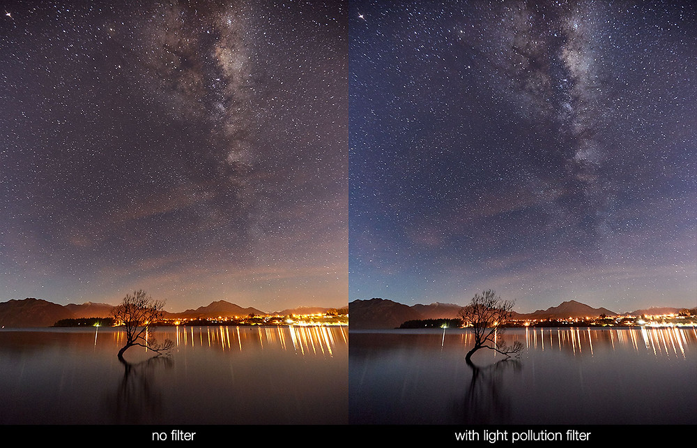 Astrophotography filter, light pollution filter and the effect it can have on telescopes and viewing