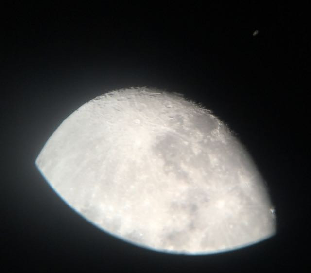 astrophotography without a smartphone adapter or phone mount to a telescope producing bad images