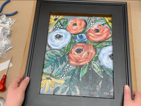 Framing Artwork Part One: Works on Canvas