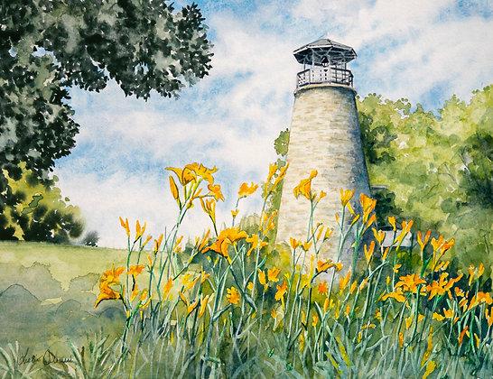 Original Painting: Barcelona Lighthouse