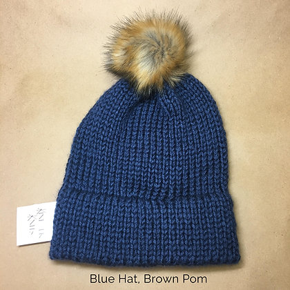 Basic Stitch Hats with Poms