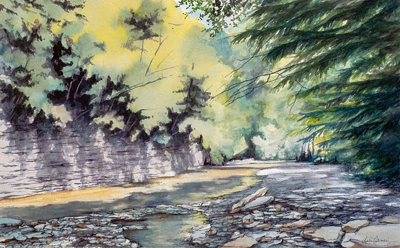 Chautauqua Gorge II, Original Watercolor