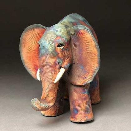 Elephant, raku-fired