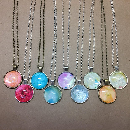 Ink Painting Necklaces