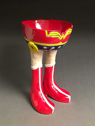"""Wonder Woman"", Footed Bowl"