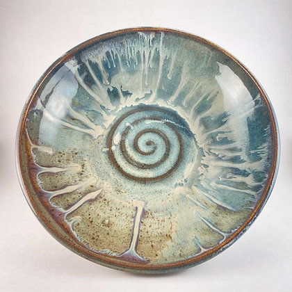 Stoneware Bowl, Swirl