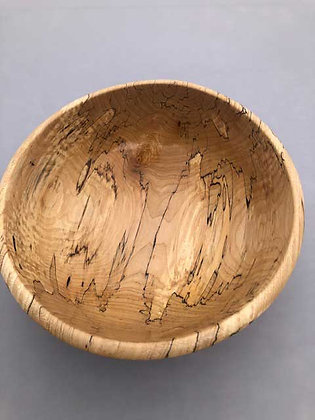 Spalted Maple with finished rim hand turned bowl