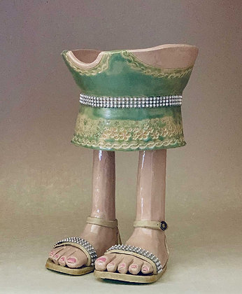 """""""Gretchen"""", Footed Bowl"""