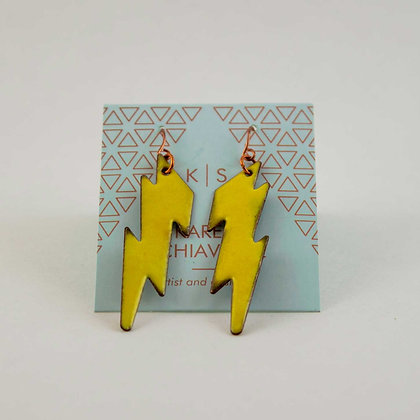 Lightning Enameled Earrings