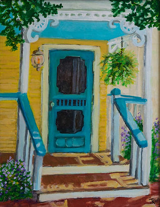 Yellow Cottage, original acrylic