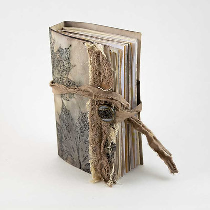 Hand dyed, bound paper journal
