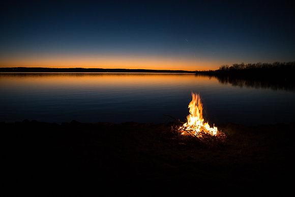 Fall Fire Lakeside, Chautauqua Lake, NY
