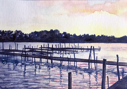 Watercolor Painting Class Kit - Chautauqua Lake
