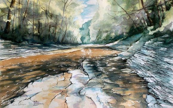 Chautauqua Gorge, Original Watercolor