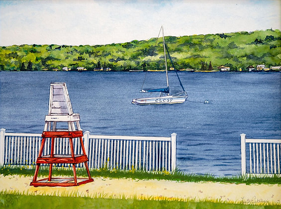Original Painting: Lakewood Beach, 1