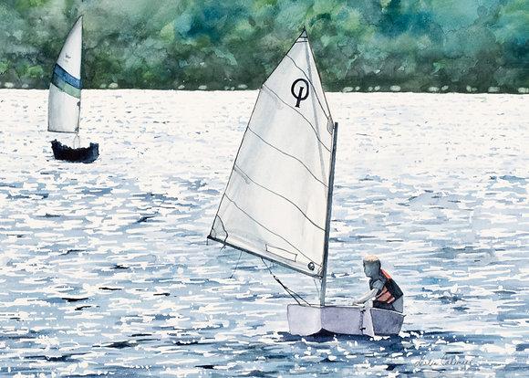 "Print, ""Sailing Lesson"""