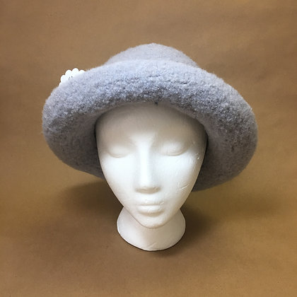 Felted Hat, silver band