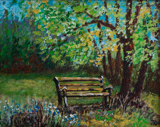 Bench, original acrylic