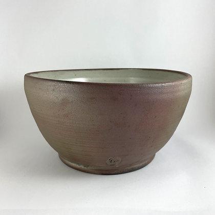Large Stoneware Bowl, White Glaze