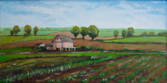 Barn, original acrylic