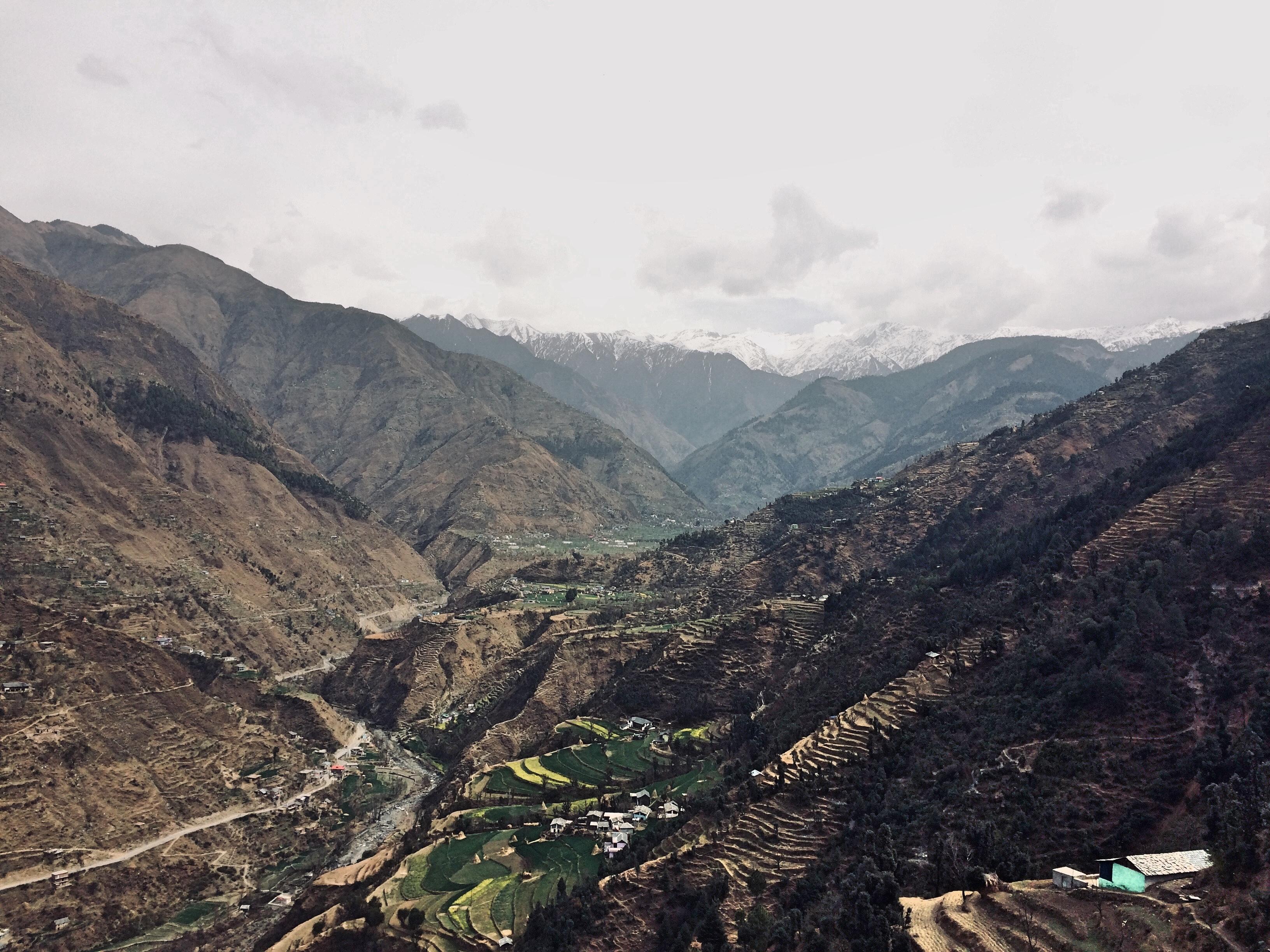 Vue de l'Himalaya depuis Chamba