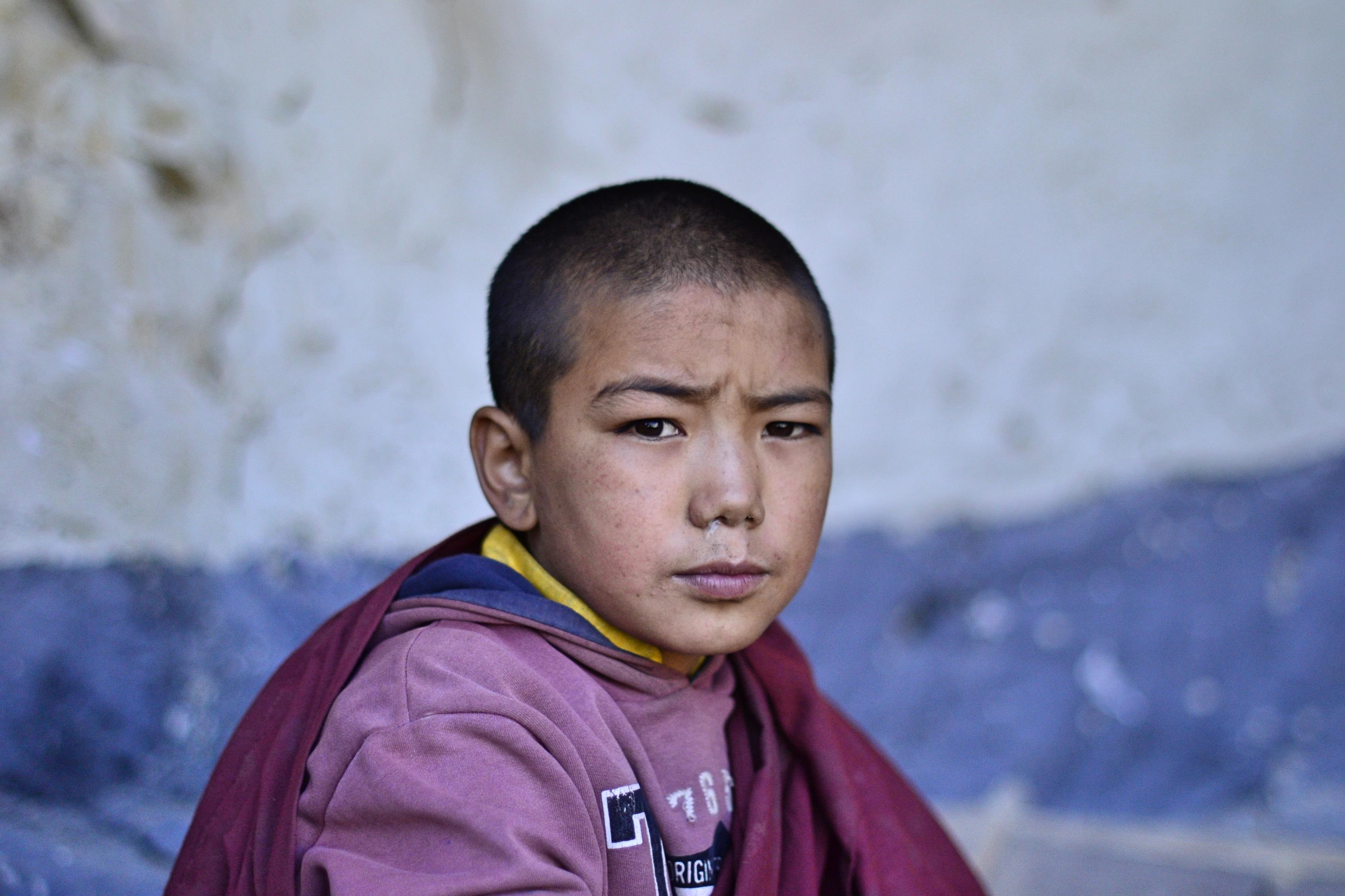 Little monk in a Monastery