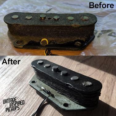 1973 Fender Telecaster bridge repair
