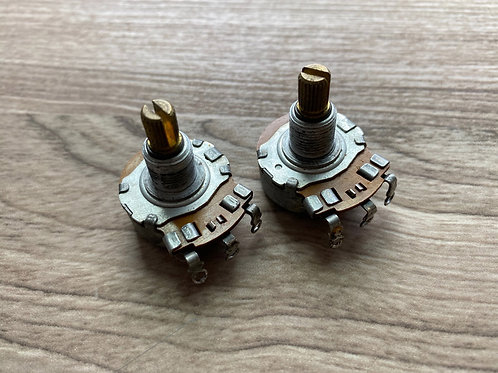 Two vintage 1968 Centralab 1 Meg potententiometers pots for Fender