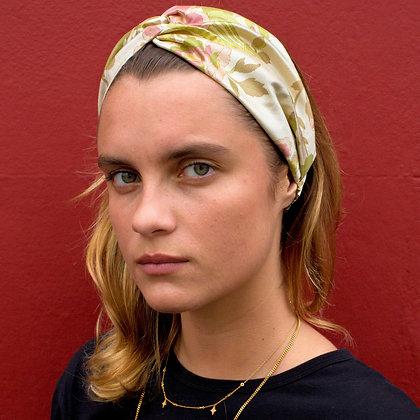 Floral Silk Twist Headband