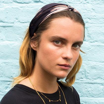 Monochrome Silk Twist Headband