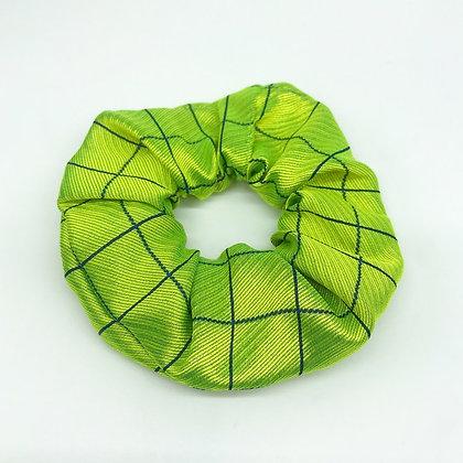Lime Silk Scrunchie