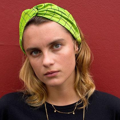 Lime Silk Twist Headband