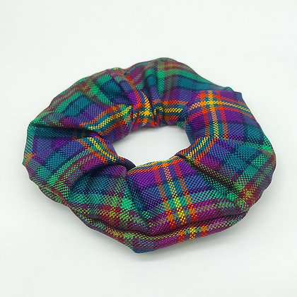 Rainbow Silk Scrunchie
