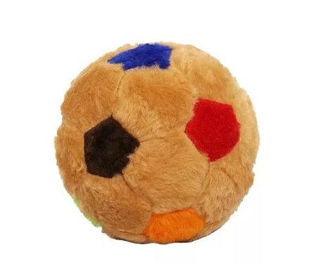 Brinquedo de Pelúcia Bola de Futebol com Guizo