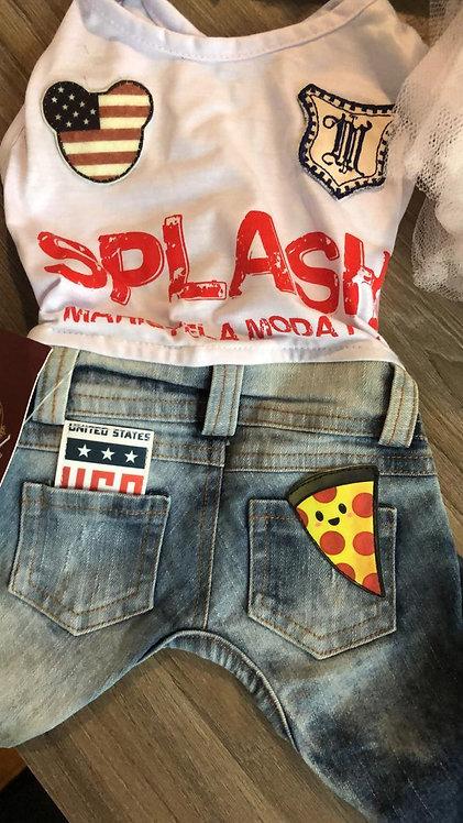 Macacão Jeans Splash