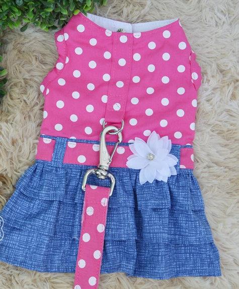 Vestidinho Peitoral Bolinhas Pink