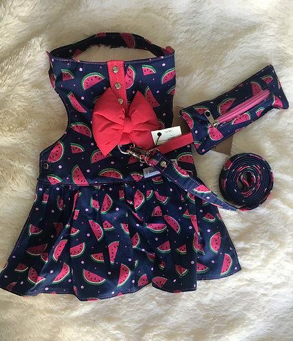 Vestido Melancia Com laço