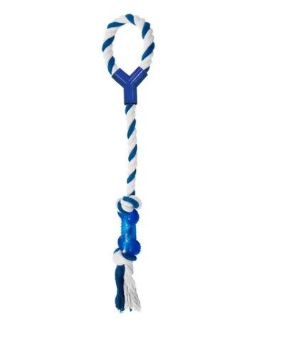 Brinquedo Corda com puxador de ossinho azul