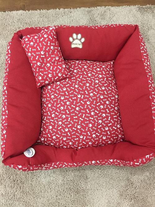 Cama Luxo Quadrada Vermelha