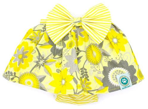 Calcinha Estampa Floral Amarela