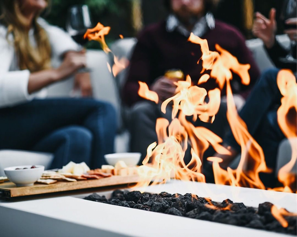 people around a fire pit