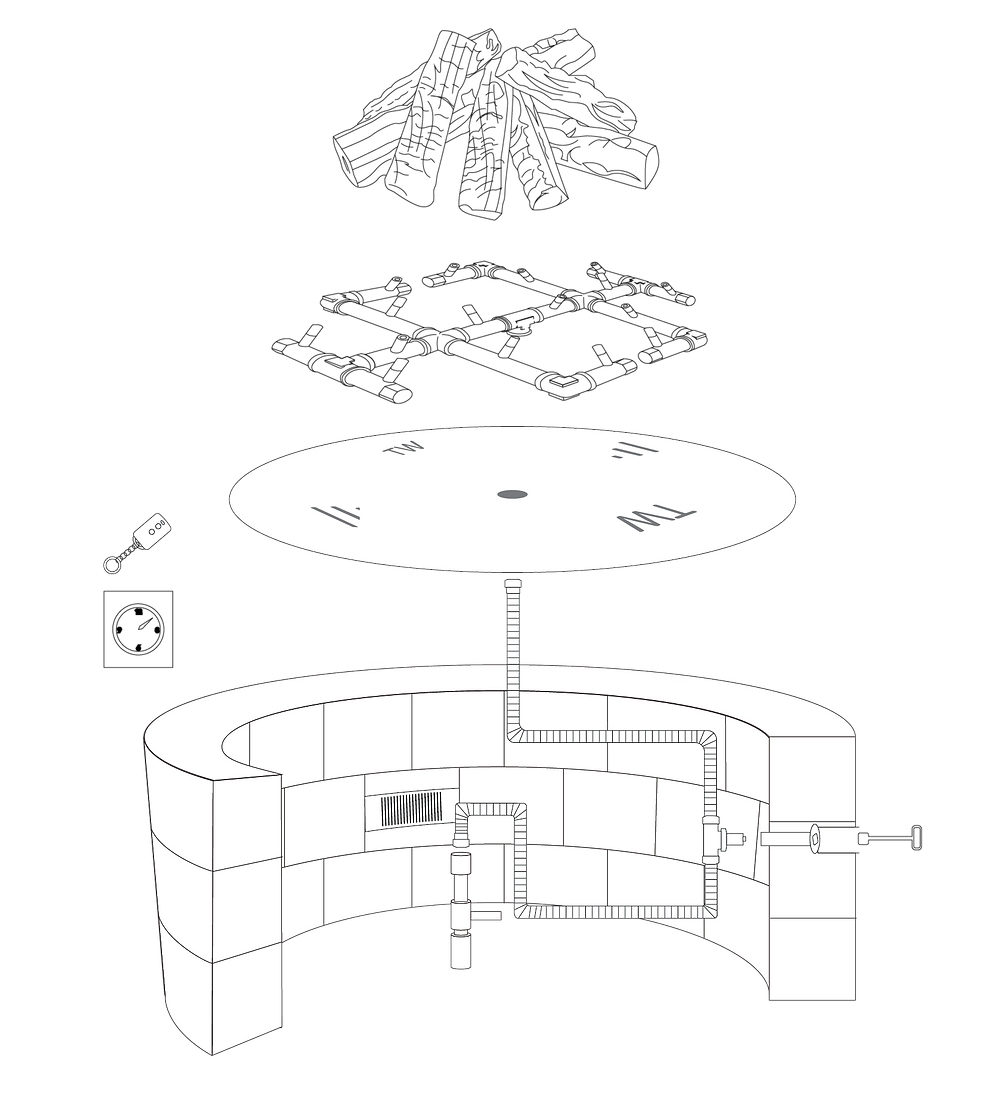 Illustration of a fire feature