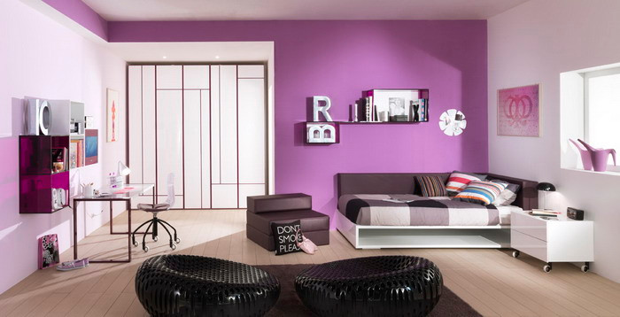 Purple Theme Bedroom