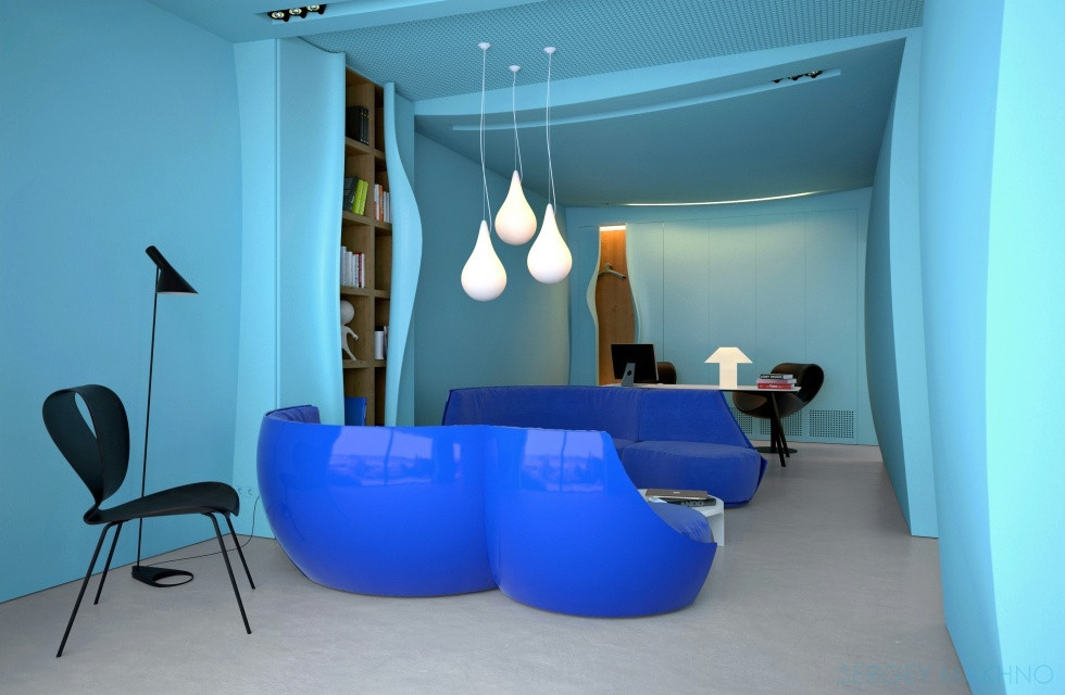 Blue Themed Office