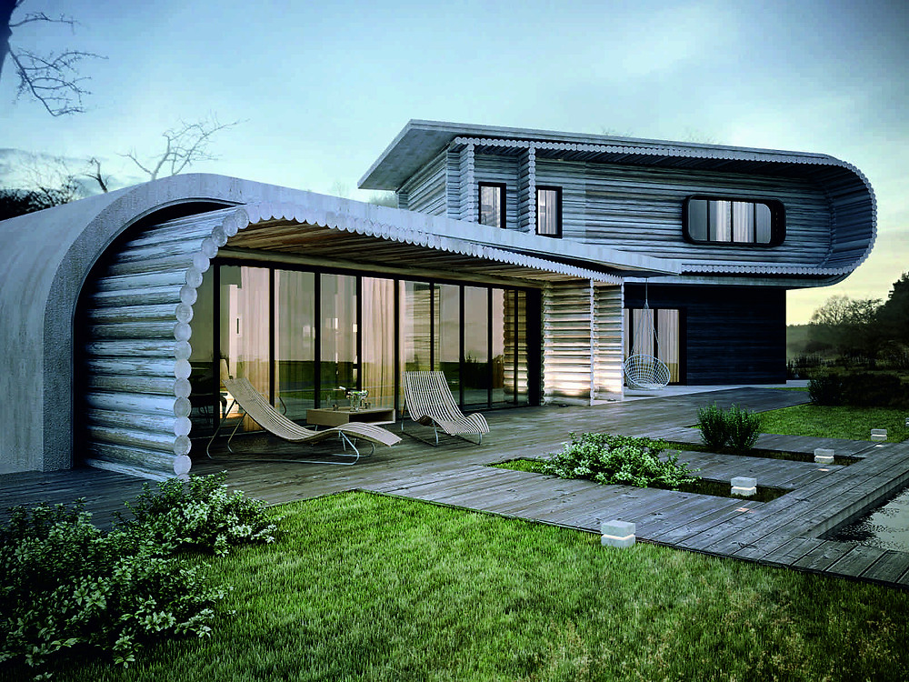 Architecture Wooden Green Roof Malaysia