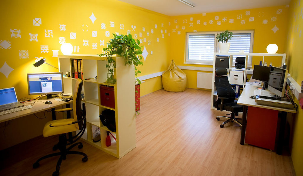 Yellow Themed Office