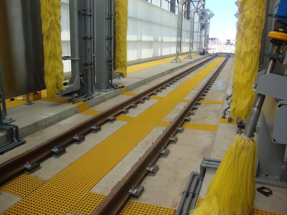 Fiberglass Reinforced Polymer Trackway